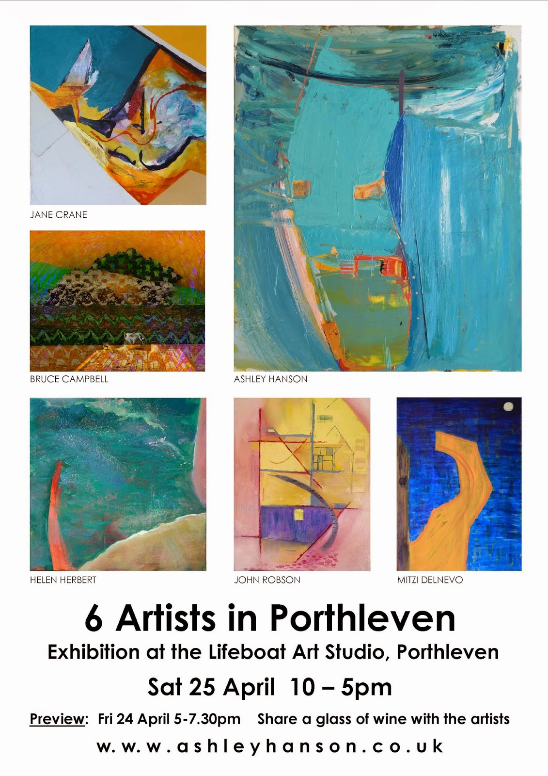 Porthleven Exhibition Poster April 2015 Print JPeg
