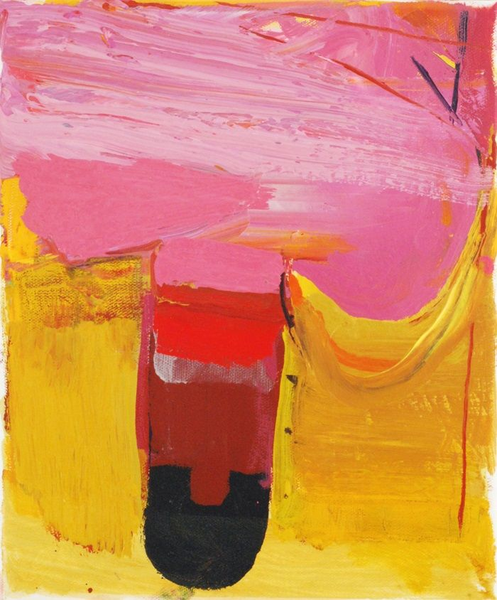 HARBOUR Pink and Yellow 30x25cms 2020 Copy